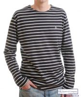The Navy/Cream Striped Top for Men