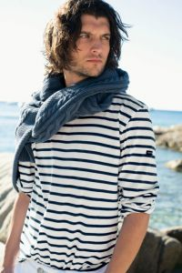 Men's Summer Breton Stripe Top