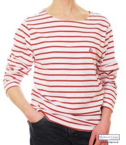 White/Red Breton Stripe Top