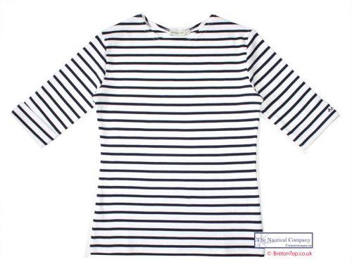 Ladies' Elbow Sleeve Striped Top