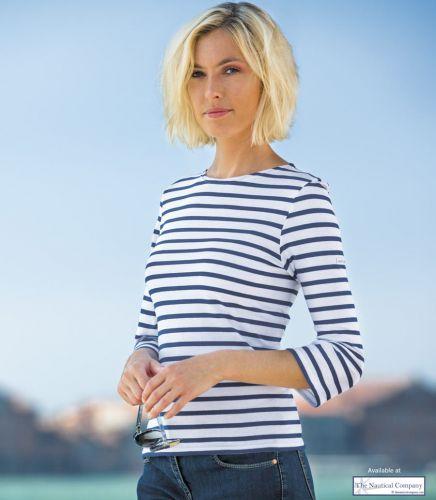 Women's Stripe Breton Top - 3/4 sleeve